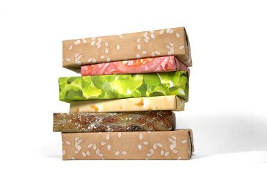 Cheeseburger Wrapping Paper Set