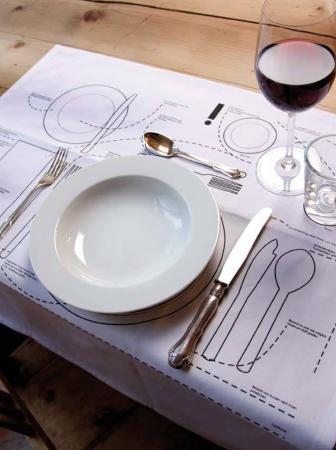 Bon ton a tavola: le regole in una tovaglietta