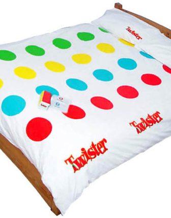 """Un copriletto per giocare a """"Twister"""""""