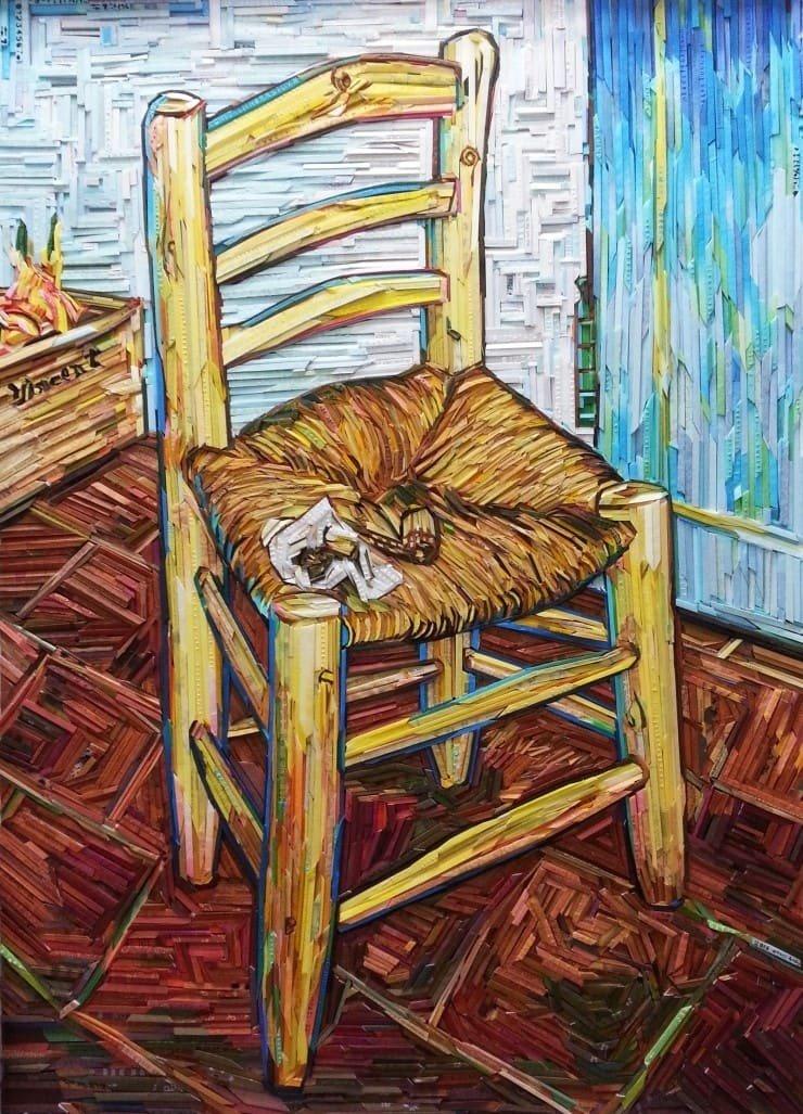 van-gogh-la-sedia-mosaico-di-legno-lee-kyu-hak