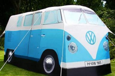VW-Bus Zelt: la tenda Peace and Love