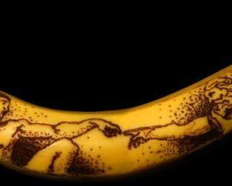 Banana art di Phil Hansen