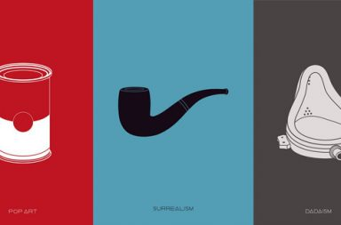 Minimalistic Posters of Art Movements