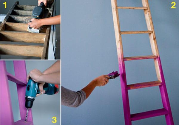 Trasformare una vecchia scala in appendiabiti