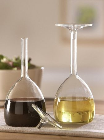 Wine Glass Oil & Vinegar Set