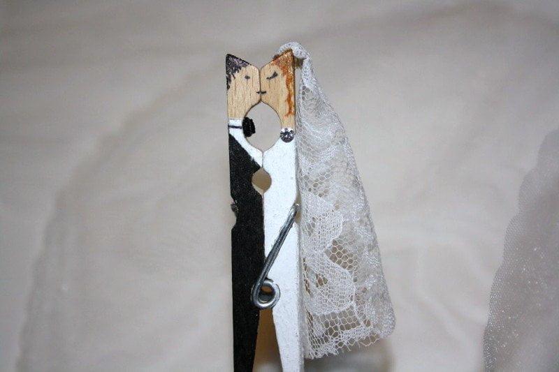 Estremamente Molletta bacio degli sposi come segnaposto per il matrimonio  SP76