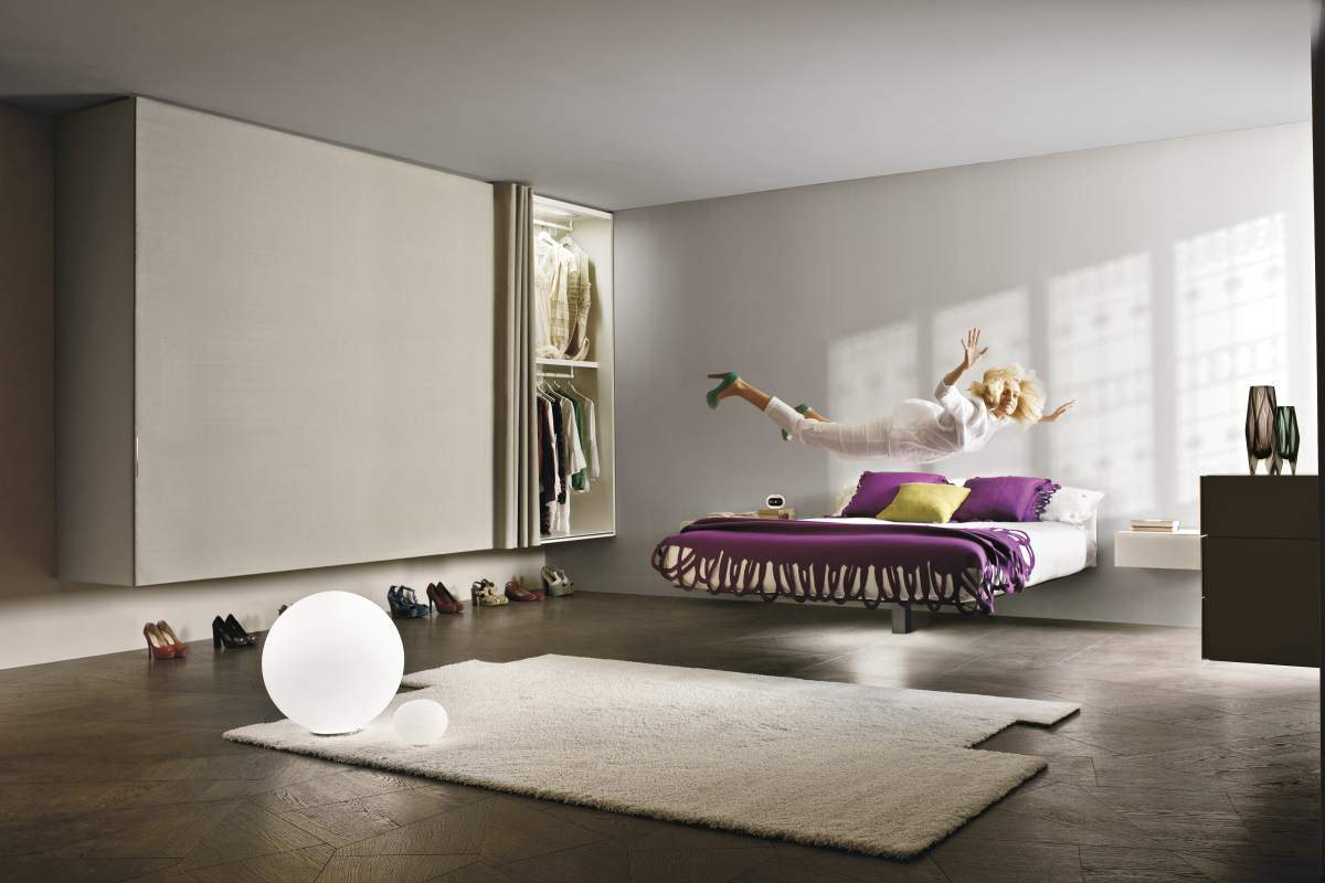 Fluttua Floating Bed di Daniele Lago - Design Miss