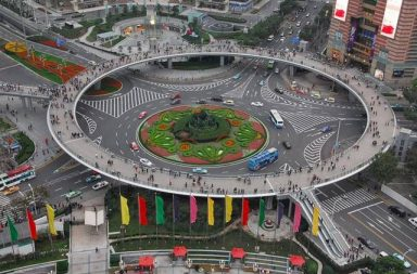 Circular Pedestrian Bridge in China