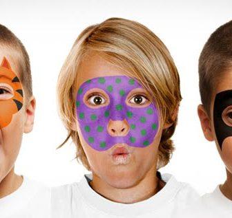 Face Paint & Stencils Set