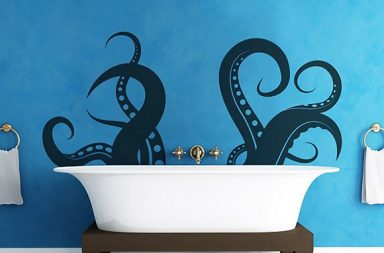 Vinyl Wall Decal Sticker Tentacle