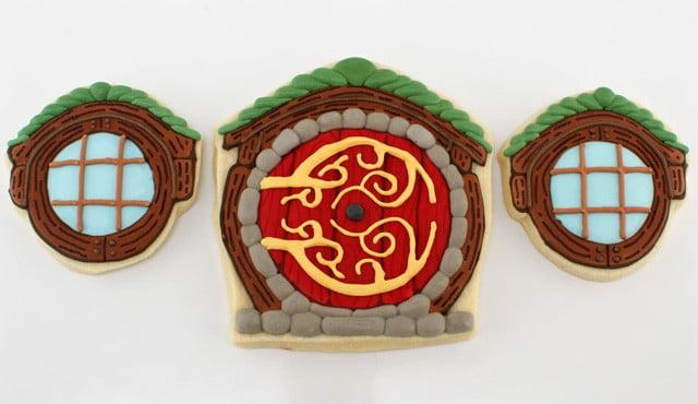 Hobbit door cookies design miss for Porte hobbit