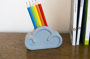 Cloud Pencil & Eraser Set