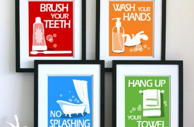 Childrens Bathroom Art Prints
