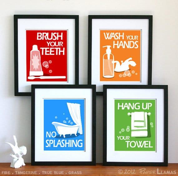 Stampe bagno regole design miss - Stampe per bagno ...