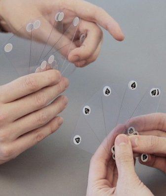 Transparent playing cards MUJI