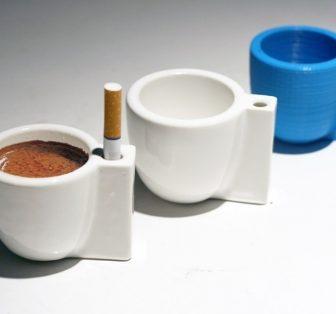 Solo e Sola: espresso + cigarette cup