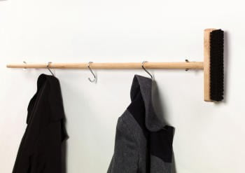 Broom Coat Rail