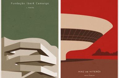 Popular Architectural Works Turned Minimalist Posters