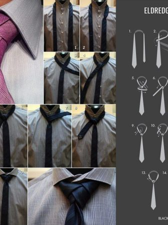 Nodo cravatta Necktie Eldredge Knot