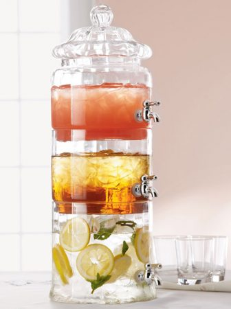 Triple Stacked Glass Beverage Server