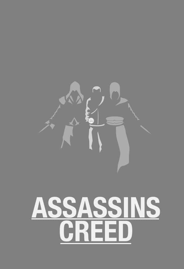 Assassins' Creed: Minimalist Gaming Wallpaper for walls