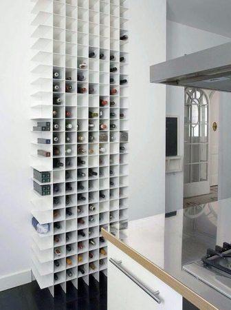 Portabottiglie a parete moderno per cucina