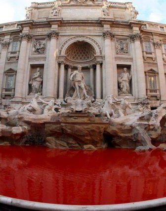 Red Trevi Fountain