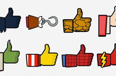 Superheroes Facebook Like Button