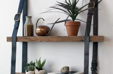 Tutorial Hanging Leather Shelves