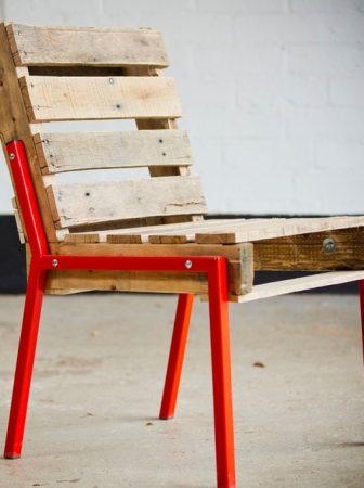 Pallet Chair – Steel Legs