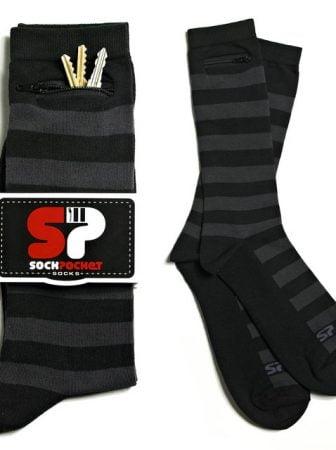 Striped Sock Pocket Socks