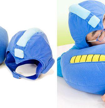 Mega Man Arm Cannon Pillow And Helmet Set