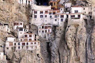 Phugtal Monastery in India.