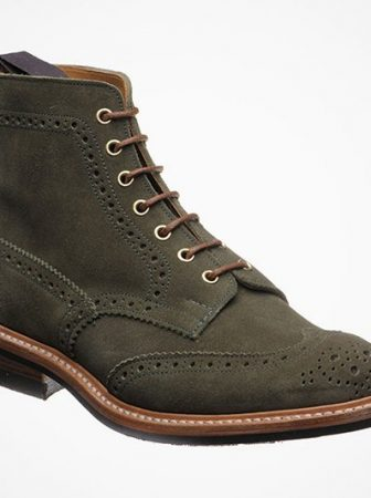 Stowe Suede Brogue Boots by Tricker x Herring