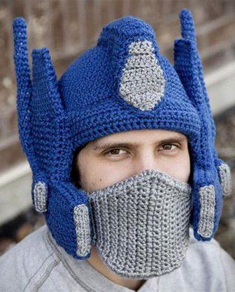 Transformers Crocheted Optimus Prime Helmet