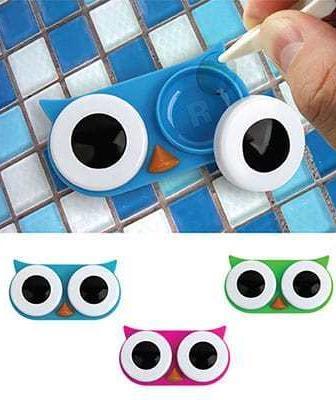 Contact Lens Owl Case