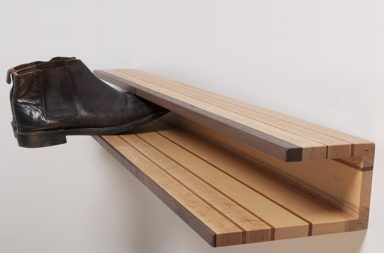 Shoe rack by Mitz Takahashi