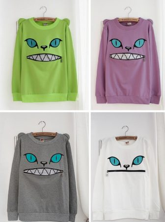Cat Sweater with Zipper Mouth
