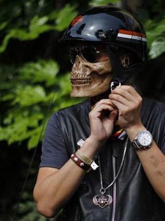 Skeleton Mask Biker