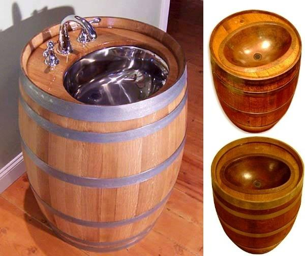 The original whiskey barrel sink design miss for Botte arredamento