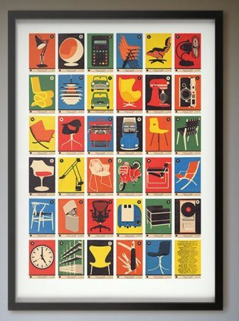 Design Classics A-Z Alphabet Print by 67 Inc