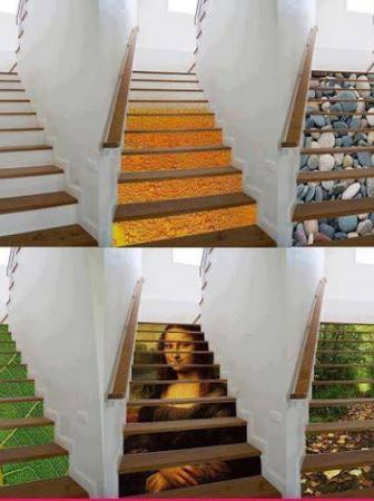 Creative painted designs on staircases