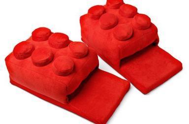 Lego Building Brick Slippers