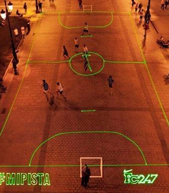 Nike's FC247 laser beam soccer