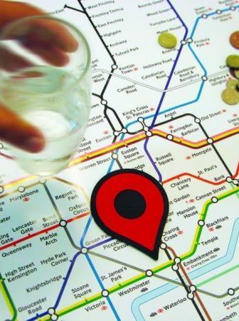Map Pin Coasters