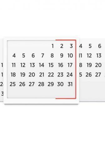 Calendario universale da parete Forebruary