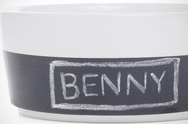 Chalkboard Dog Bowl