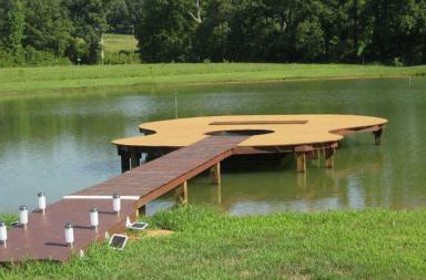Guitar shaped boat dock