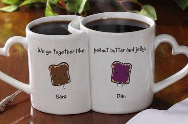Romantic Personalized Coffee Mug Set
