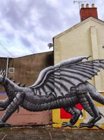 Dragon Mural by Phlegm